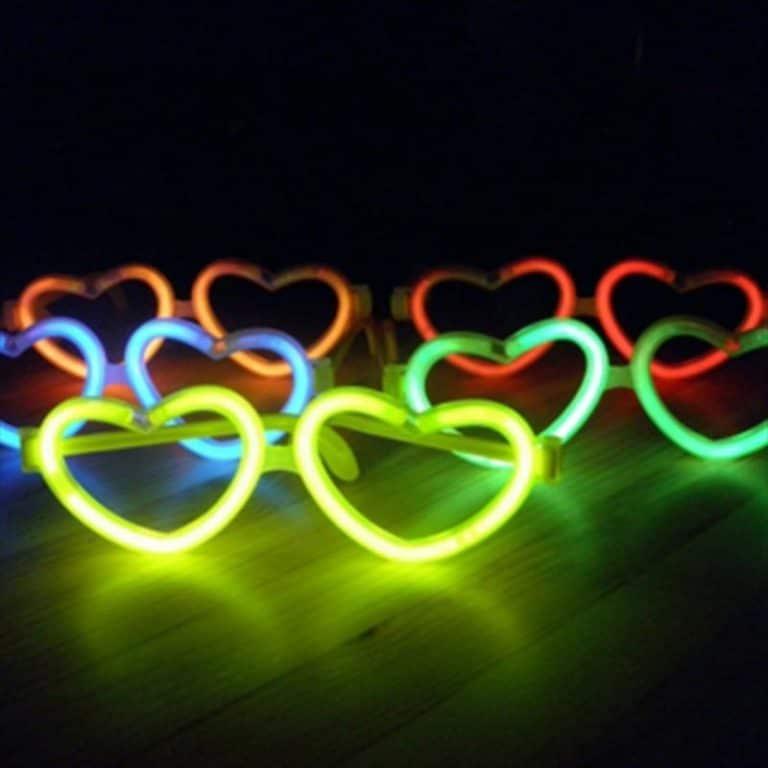 عینک قلبی بلک لایت Glow مدل STBL144