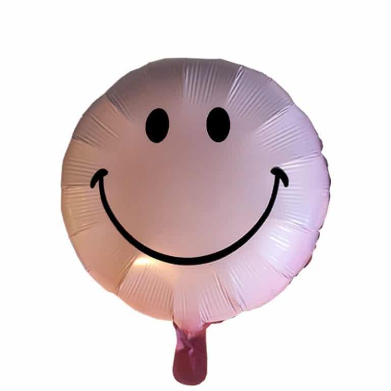 بادکنک فویلی صورتی طرح smile
