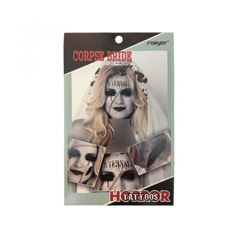 تتو موقت هالووین CORPSE BRIDE
