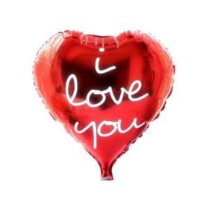 بادکنک فویلی قلب قرمز I LOVE YOU مدل STFH111