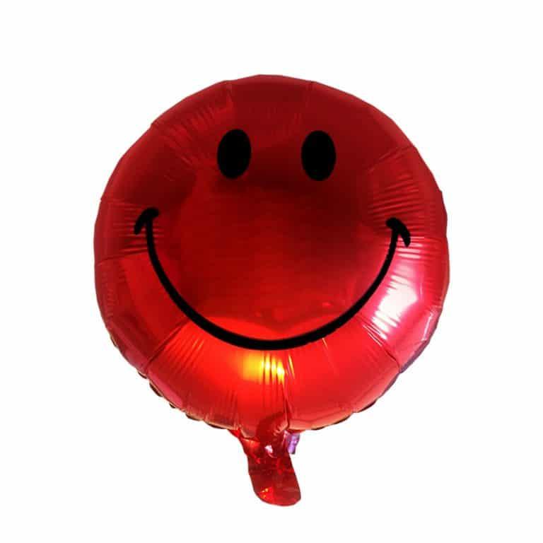 بادکنک فویلی قرمز طرح smile