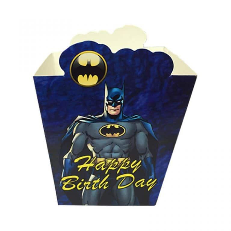 ظرف پاپ کورن تم تولد بتمن Batman (بسته ۱۰ عددی)