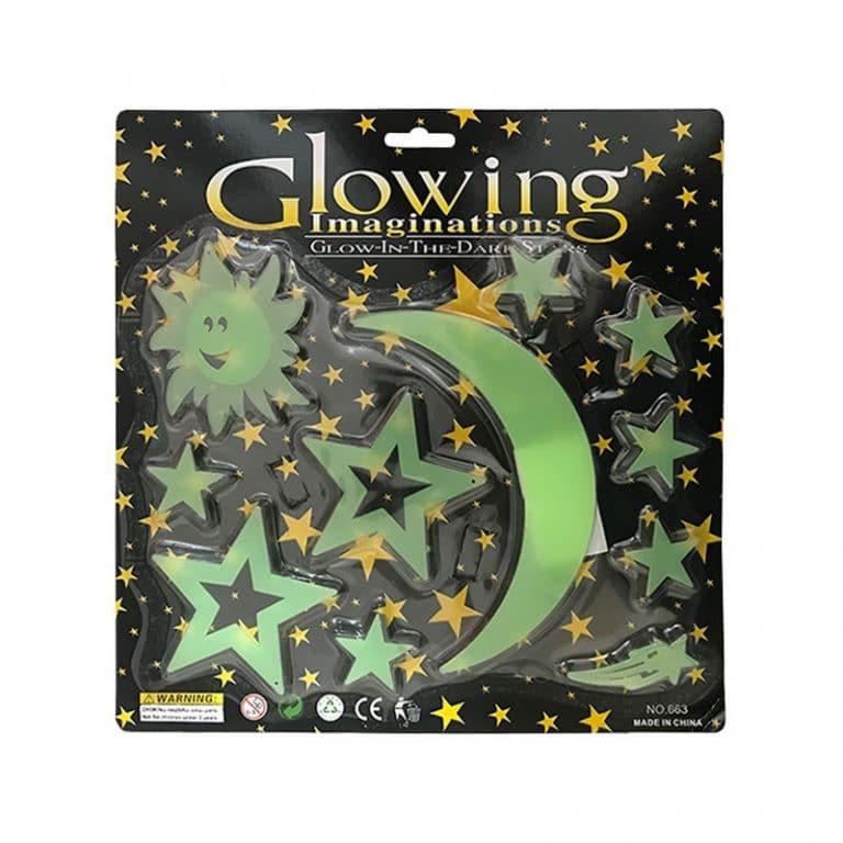استیکر ماه و ستاره شب تاب Glow مدل STBL203