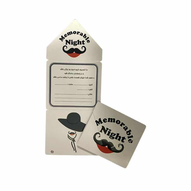 کارت دعوت تم تولد سیبیل و کلاه ( ۱۰ عدد )
