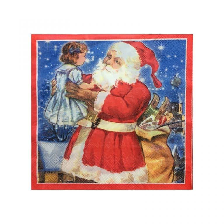 دستمال بابانوئل کریسمس (بسته ۲۰ عددی)