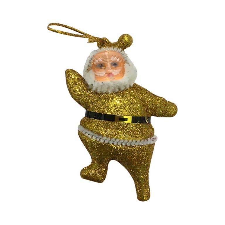 آویز اکلیلی بابانوئل کریسمس (بسته ۶ عددی)