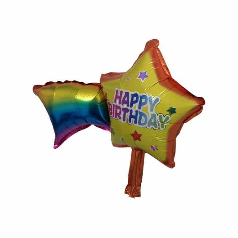 بادکنک فویلی ستاره دنباله دار Happy birthday