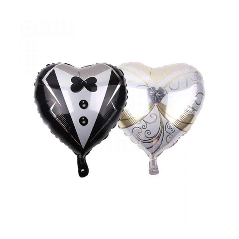 بادکنک فویلی قلب عروس و داماد مدل STF216