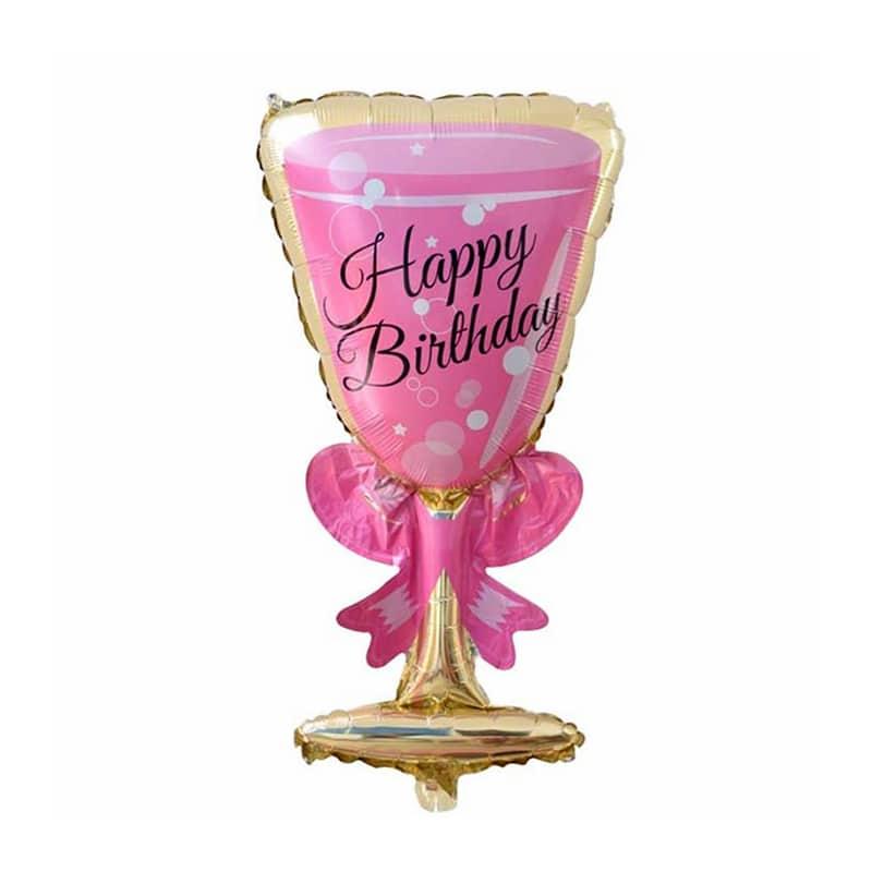 بادکنک فویلی جام مدل Happy birthday