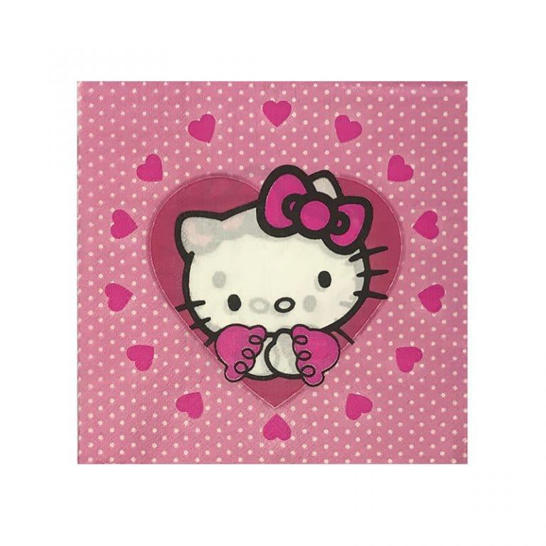 دستمال تم دخترانه کیتی Kitty (بسته ۲۰ عددی)َ