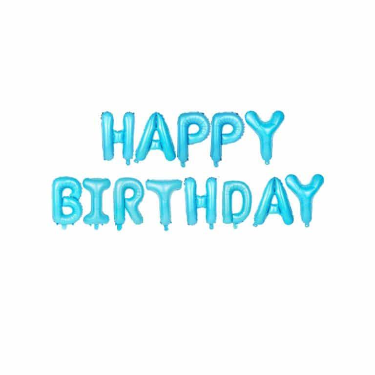 بادکنک فویلی Happy birthday مدل STF109