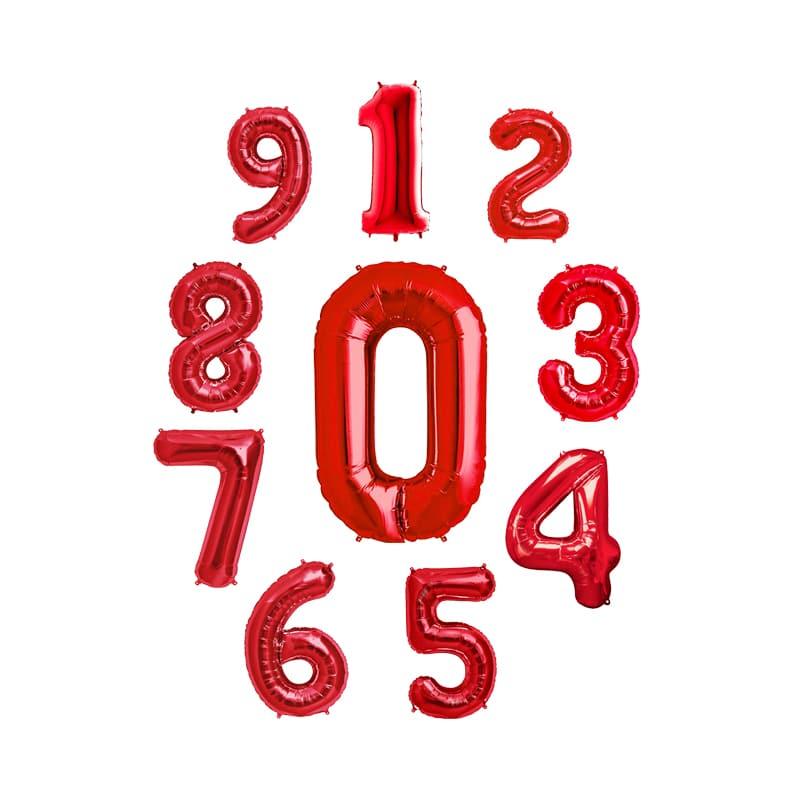 بادکنک فویلی اعداد قرمز – ۳۲ اینچ