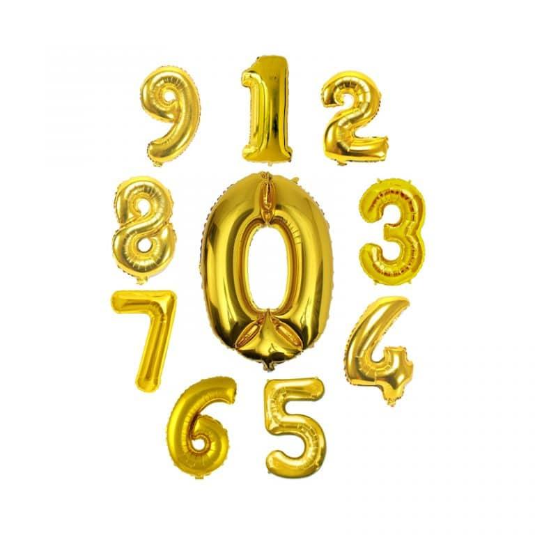 بادکنک فویلی اعداد طلایی – ۴۲ اینچ