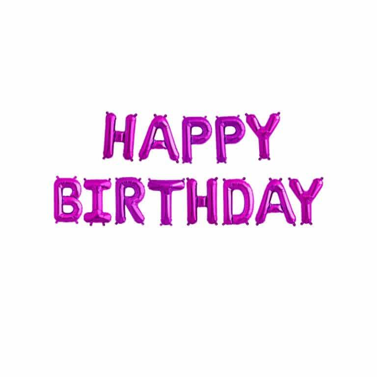 بادکنک فویلی Happy birthday مدل STF110