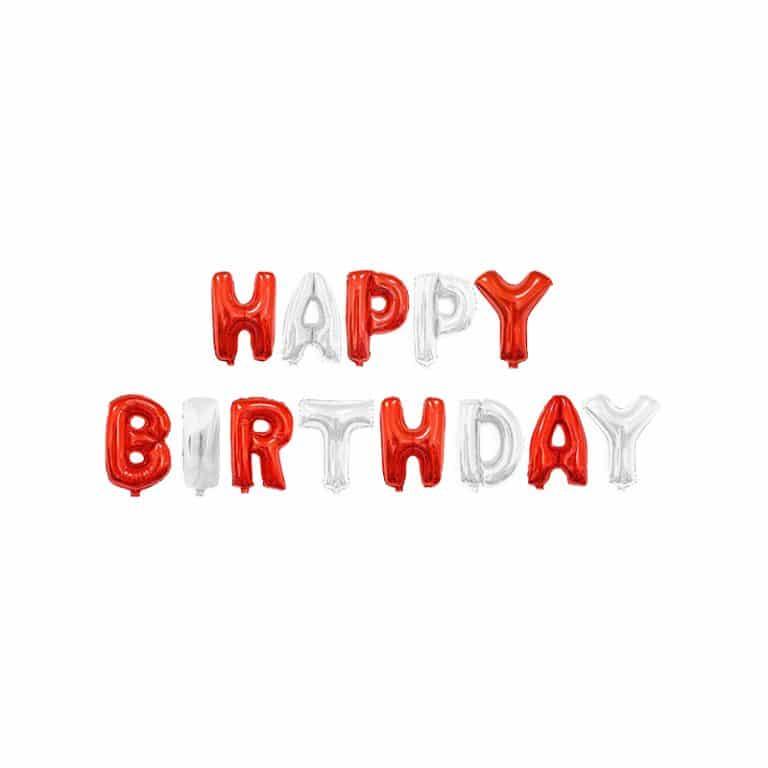 بادکنک فویلی Happy birthday مدل STF106