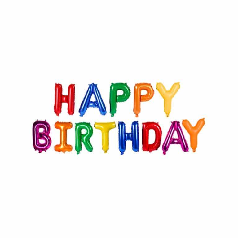 بادکنک فویلی Happy birthday مدل STF107