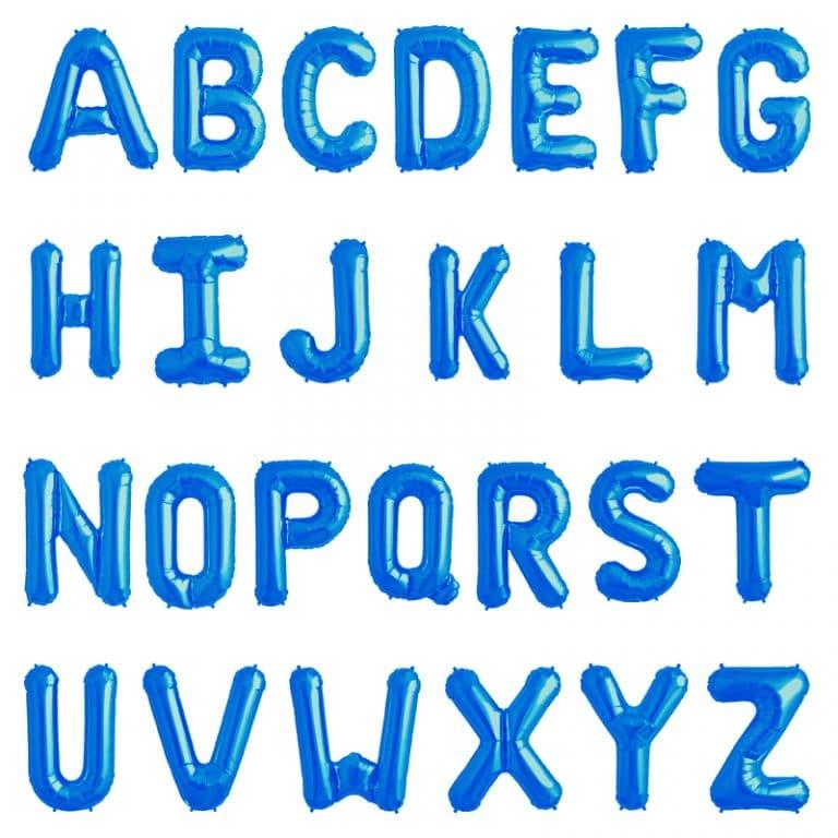 بادکنک فویلی حروف آبی – ۳۲ اینچ