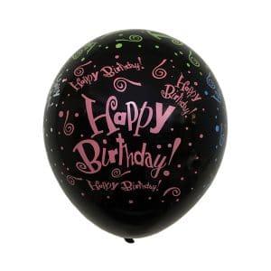 بادکنک لاتکس طرح دار Happy Birthday مدل STLB122