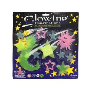 استیکر ماه و ستاره شب تاب Glow مدل STBL212