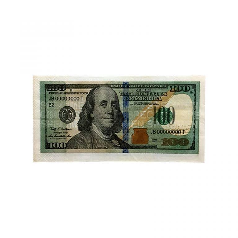 دستمال سفره طرح ۱۰۰ دلار Dollar