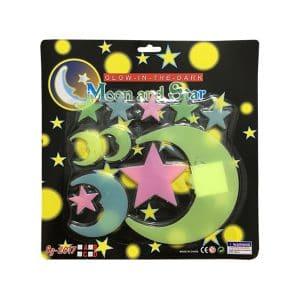 استیکر ماه و ستاره شب تاب Glow مدل STBL214