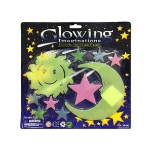 استیکر ماه و ستاره شب تاب Glow مدل STBL215