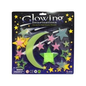 استیکر ماه و ستاره شب تاب Glow مدل STBL216