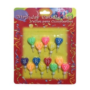 شمع تولد قلبی Happy Birthday مدل STC139