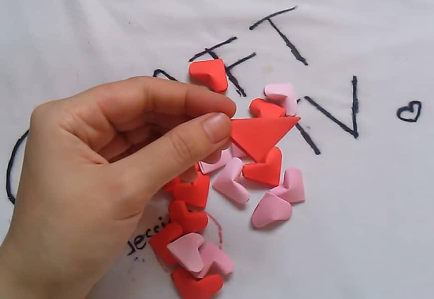 آموزش ساخت قلب کاغذی 3 بعدی