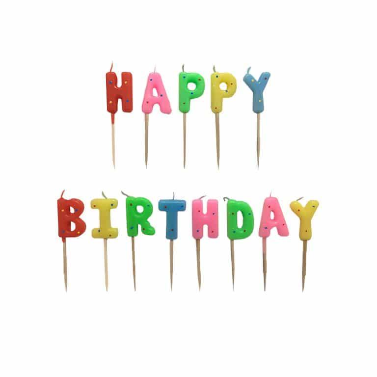 شمع تولد Happy Birthday خال دار مدل STC126