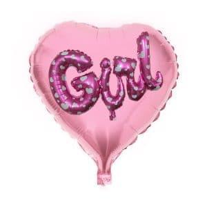 بادکنک فویلی قلب GIRL مدل STF211