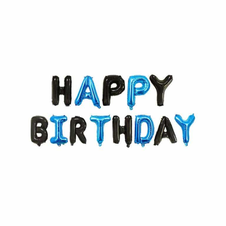 بادکنک فویلی Happy birthday مدل STF112
