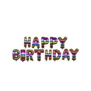 بادکنک فویلی Happy birthday مدل STF114