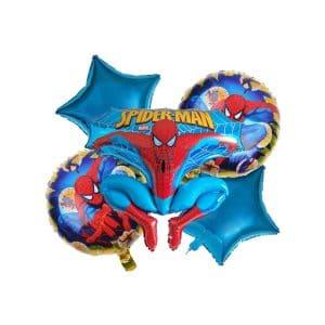 ست بادکنک فویلی مرد عنکبوتی Spider Man پنج تکه مدل STF2028