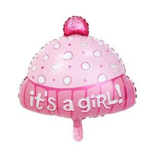 بادکنک فویلی کلاه دخترانه
