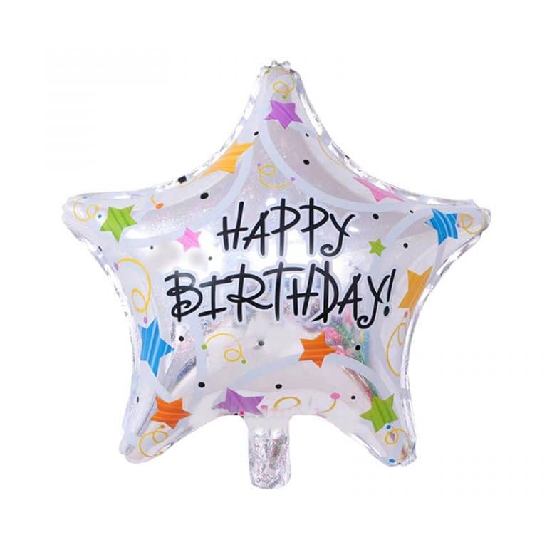 بادکنک فویلی ستاره Happy Birthday مدل STF127