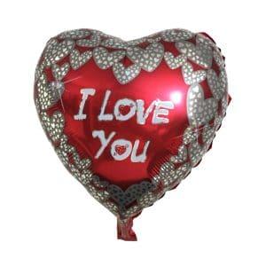 بادکنک فویلی قلب I love you مدل STFH124