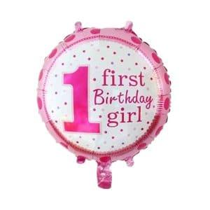 بادکنک فویلی اولین تولد دخترانه