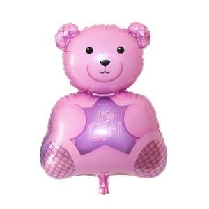 بادکنک فویلی خرس صورتی