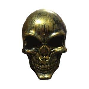 نقاب اسکلتی طلایی