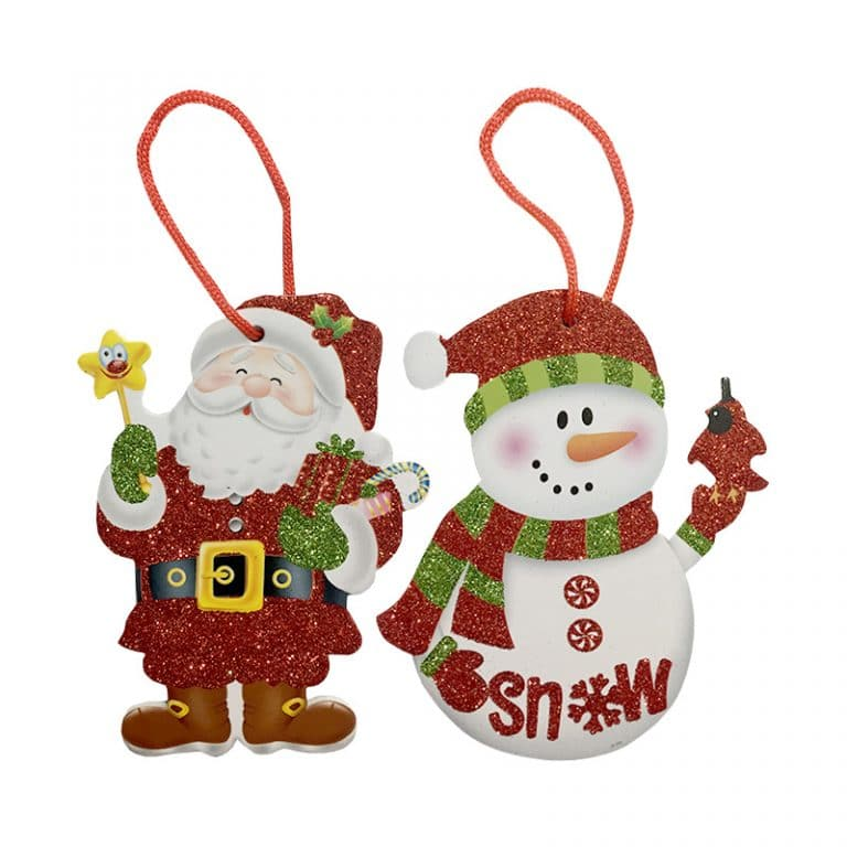 آویز بابانوئل و آدم برفی کریسمس مدل STCH113