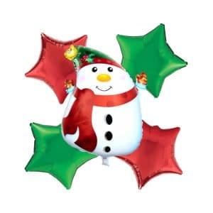 ست بادکنک آدم برفی و ستاره کریسمس