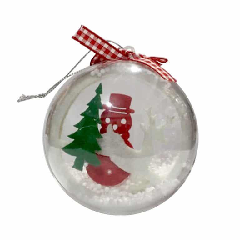 آویز گوی برف کریسمس مدل STCH151