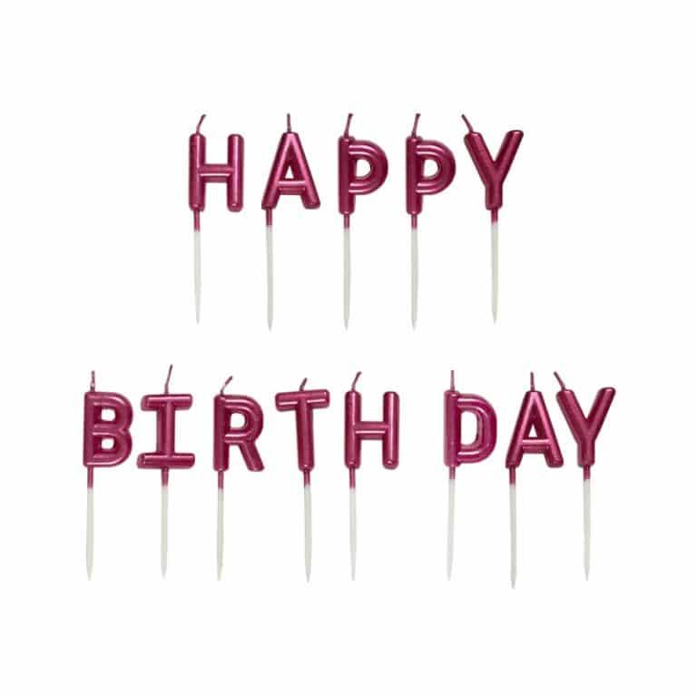 شمع تولد Happy Birthday مدل STC186