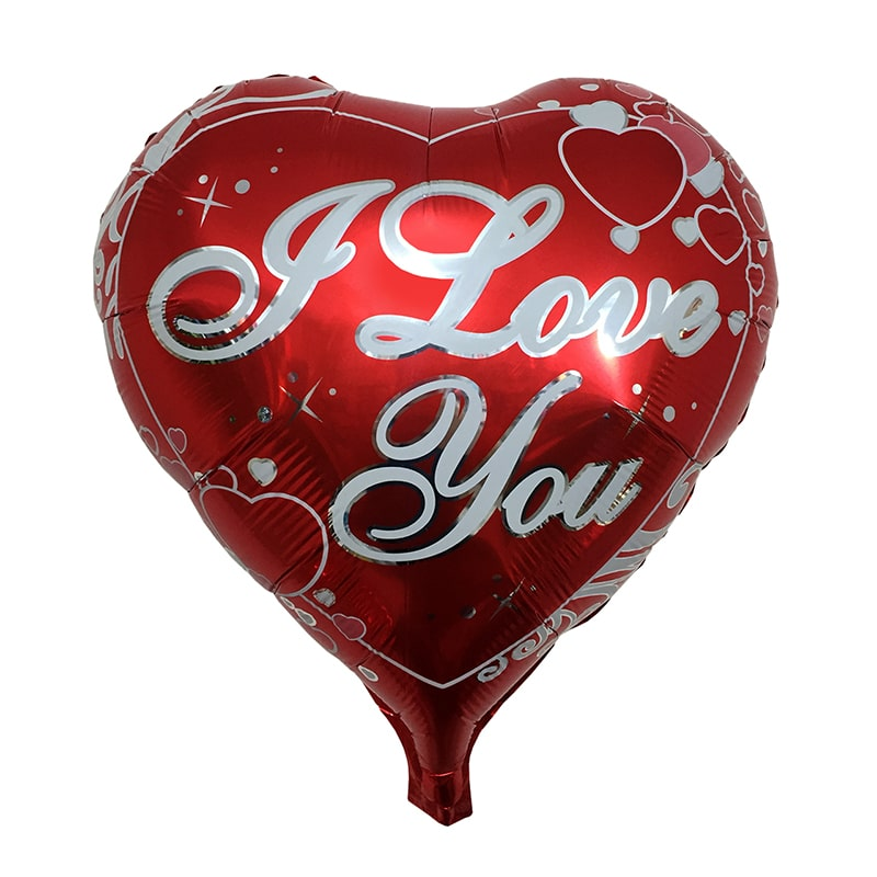 بادکنک فویلی قلب I Love You