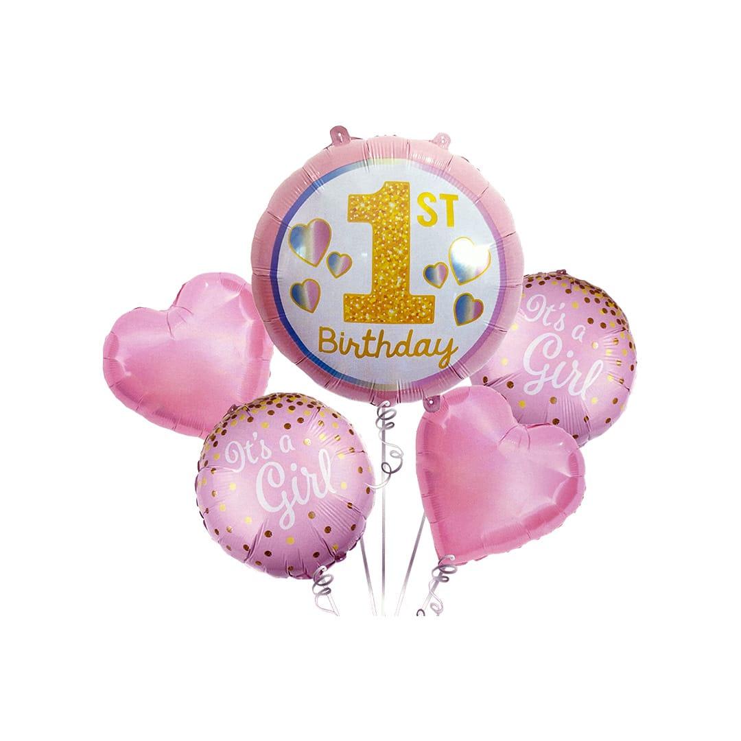 ست بادکنک فویلی First birthday girl مدل STF2057