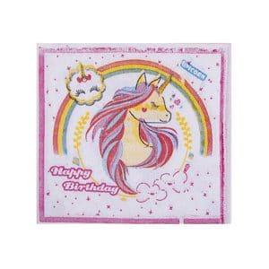 دستمال کاغذی تم تولد اسب تک شاخ
