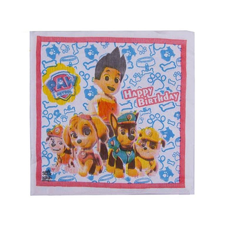 دستمال کاغذی تم تولد سگ های نگهبان مدل STBT145
