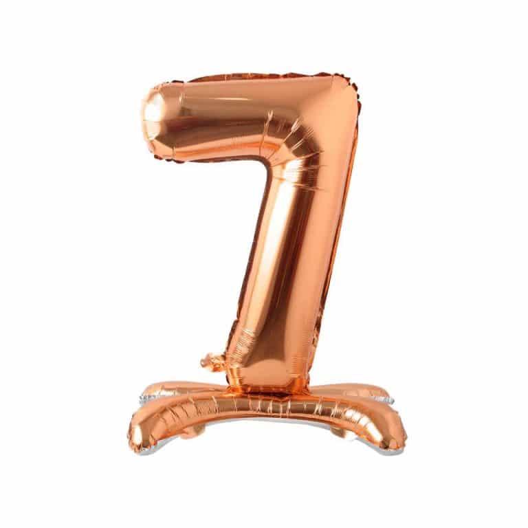 بادکنک فویلی اعداد پایه دار رزگلد مدل STFN122