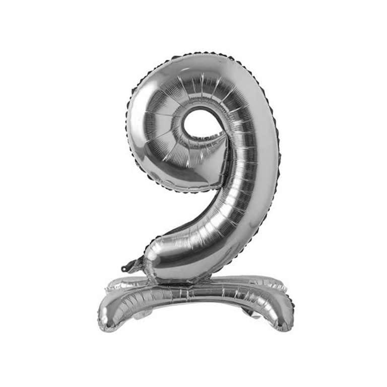بادکنک فویلی اعداد پایه دار نقره ای مدل STFN125